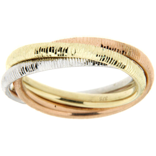 OROGELLI Damen Ring, tricolor, 375er Gold