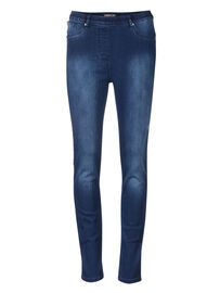 Mocca by J.L. Miracle 360° Jeans Basic, dunkel-jeansblau