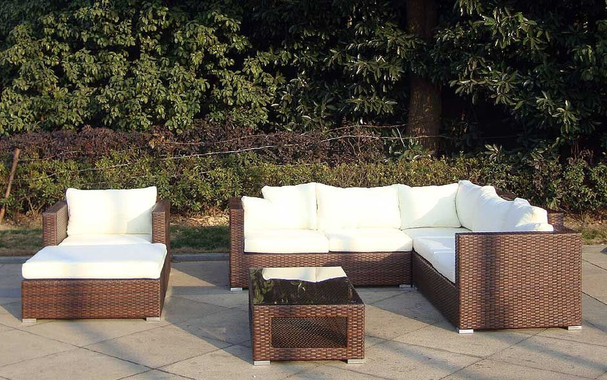 baidani rattan garten lounge sunset rattanfarbe braun meliert karstadt online shop. Black Bedroom Furniture Sets. Home Design Ideas