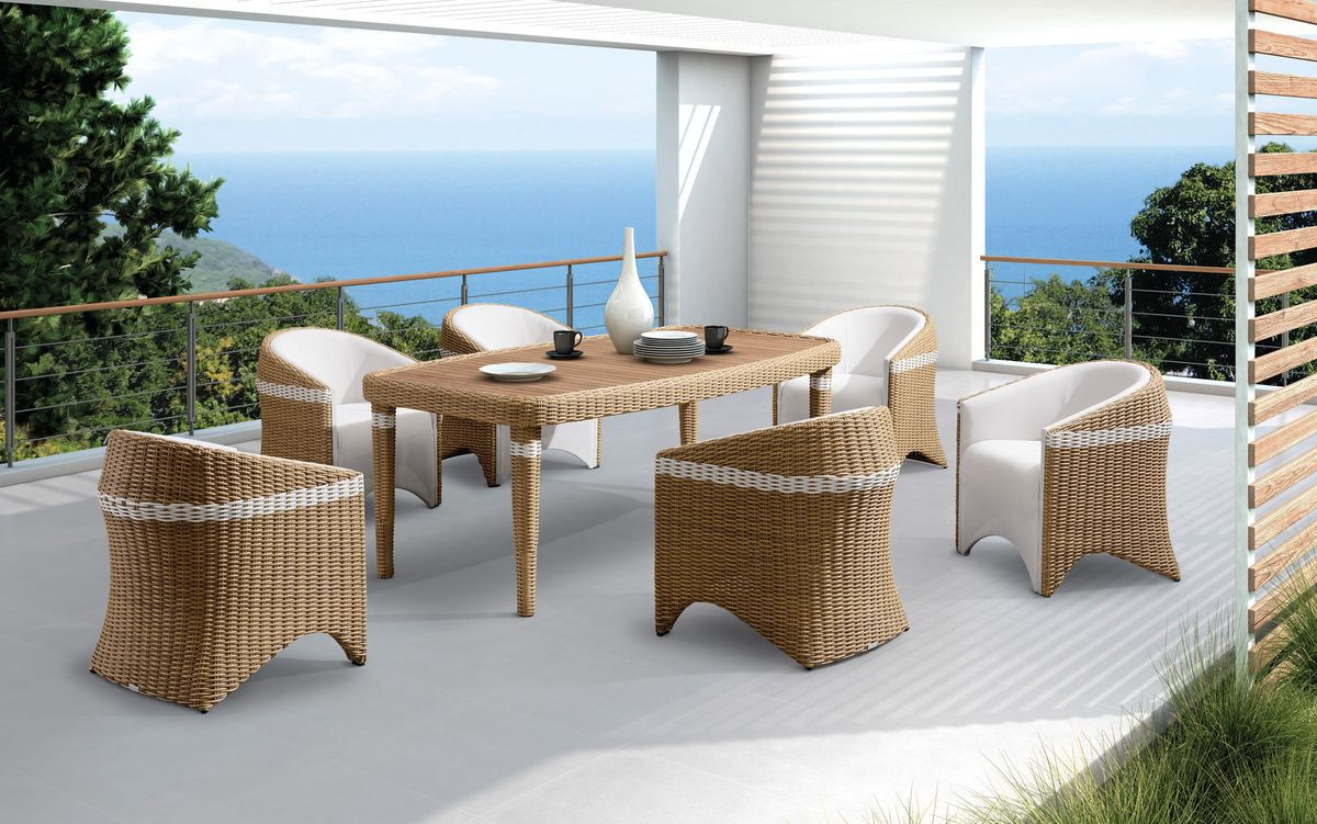 baidani rattan garten essgruppe teak large lugano karstadt online shop. Black Bedroom Furniture Sets. Home Design Ideas