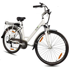 "LLobe Alu Elektro City Bike 28"", ""Blanche"""