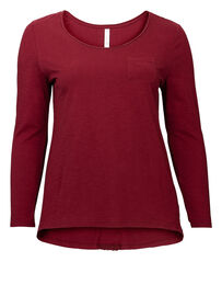 Sheego Longsleeve, bordeaux