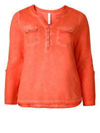 Sheego Shirt, orange