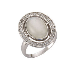 ZEEme Jewelry Ring 925/- Sterling Silber Mondstein