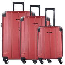 Franky ABS14 4-Rollen Trolley Set 3-tlg, rot