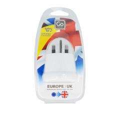 Go Travel Adapter Europa-UK, weiss