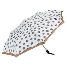 Knirps T200 Duomatic Taschenschirm 28 cm, dots creme