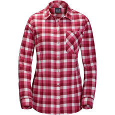Jack Wolfskin Damen Flanellbluse Bow River