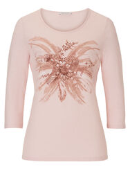 Betty Barclay Shirt, Rose/Cream - Rot