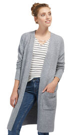 Tom Tailor Denim Cardigan in Melange-Optik, light silver grey