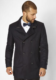 S4 Jackets eleganter Kurzmantel George, navy