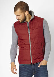 S4 Jackets sportliche Weste Match Point, sangria red