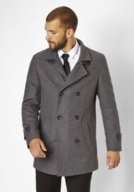 S4 Jackets eleganter Kurzmantel George, grey melange