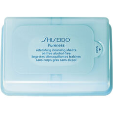 Shiseido Pureness Refreshing Cleansing Sheets Oil-Free Alcohol Free, 30 Stück