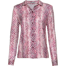 Erfo Damen Bluse, Reptilienmuster