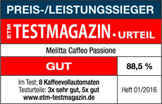 Melitta® Kaffee-Vollautomat CAFFEO Passione, silber