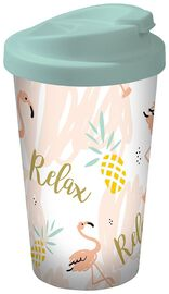 15933 Flamingo Coffee to go Becher Relax, 400 ml
