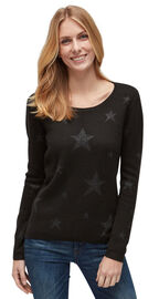 Tom Tailor Pullover mit Sternen-Muster, black