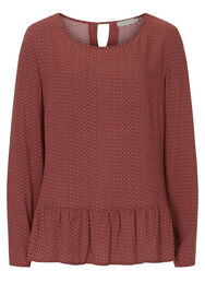 Betty & Co Bluse, Pink/Grey - Pink