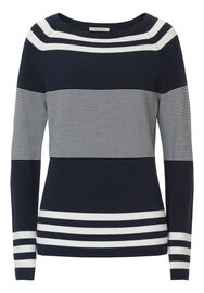 Betty Barclay Strickpullover, Dunkelblau/Weiß - Blau