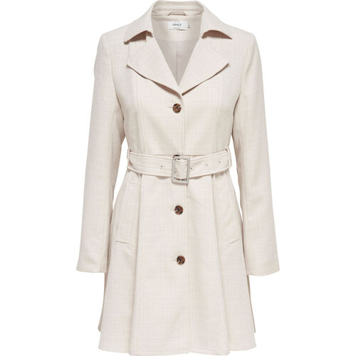 Only Damen Trenchcoat ´´Hallo Melange´´, Moonbeam, M | Bekleidung > Mäntel > Trenchcoats | Beige | Only
