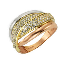 Fascination by Ellen K. Ring 375/- Gelbgold Zirkonia, 50