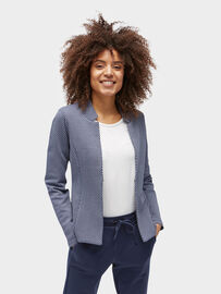 Tom Tailor Blazer Gemusterter Blazer, real navy blue