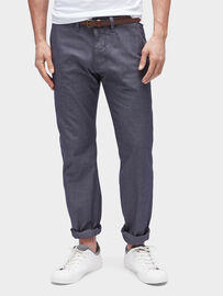 Tom Tailor Pants / Trousers Travis Regular Chino, knitted navy