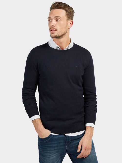Tom Tailor Strick-Pullover, knitted navy, M