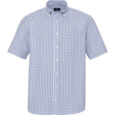 A.W. Dunmore Herren Seersucker-Freizeithemd, kariert, 1/2-Arm, Button-Down, Regular Fit