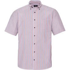 A.W. Dunmore Herren Seersucker-Freizeithemd, gestreift, 1/2-Arm, Button-Down, Regular Fit