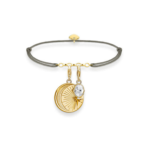 THOMAS SABO Charm-Armband Little Secret Mond mi...