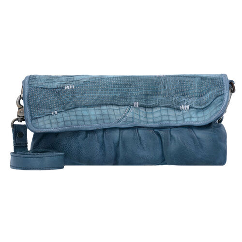 Billy the Kid Blade Cut Clutch Tasche Leder 30 cm, blue Preisvergleich