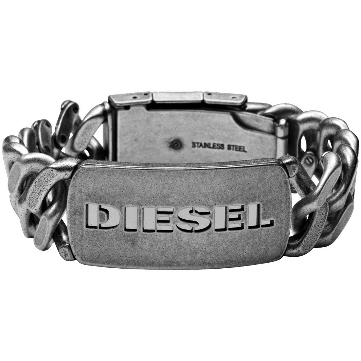 diesel herren armband new logo dx0656040 edelstahl. Black Bedroom Furniture Sets. Home Design Ideas