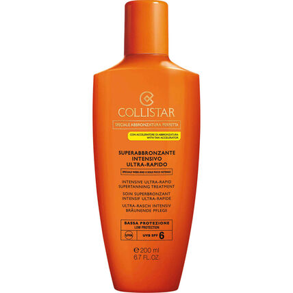Collistar Intensive Ultra-Rapid Supertanning Treatment SPF 6, Bräunungscreme, 200 ml