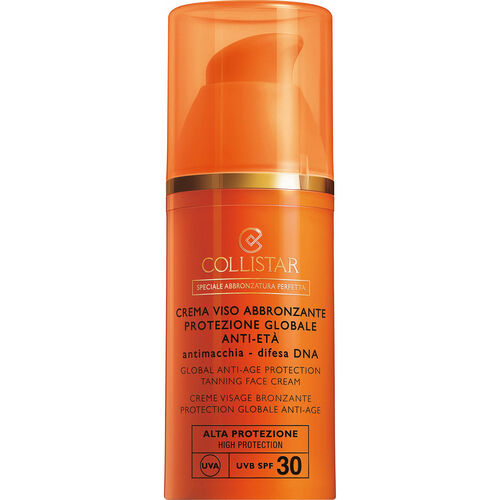 Collistar Global Anti-Age Protection Tanning Face Cream SPF 30, Sonnencreme, 50 ml