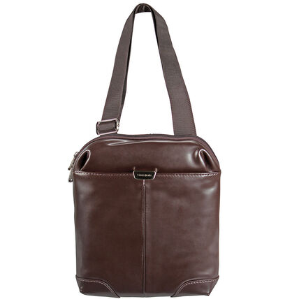 Samsonite S-Oulite LTH Crossover Umhängetasche Leder 25 cm Tabletfach, dark brown