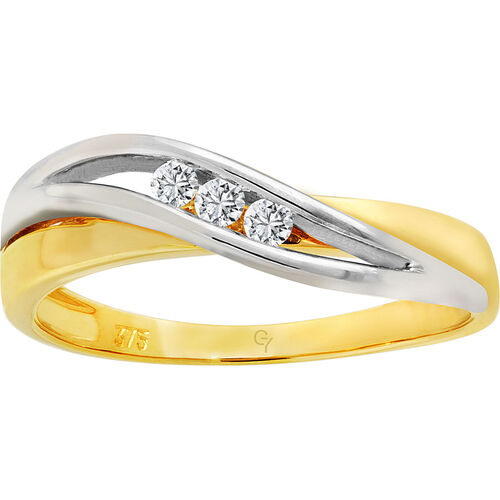 Glory Ring, 375er Gold mit Brillanten
