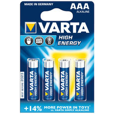 Varta Batterie AAA Micro 4903 High Energy, 4er Pack
