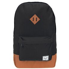 Herschel Heritage Backpack Rucksack 47 cm Laptopfach, black tan synthetic leather