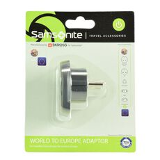 Samsonite Travel Accessories World-Europe Adapter II, graphite