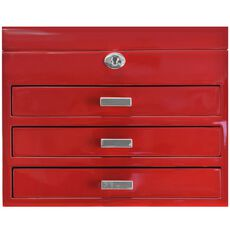 Windrose High Gloss Charmbox Schmuckkoffer L 30 cm, rot