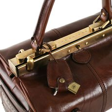 The Bridge Icons Bügeltasche Alyce Small Leder 29 cm, marrone