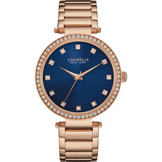 "Caravelle New York Damenuhr  Rose & Navy ""44L210"""