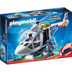 PLAYMOBIL® City Action 6874 Polizei-Helikopter mit LED-Suchscheinwerfer