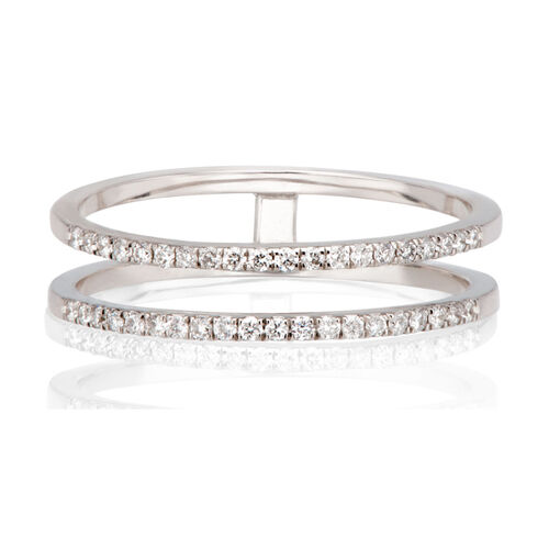 Gold&Roses Damen Diamantring ´´Double Half Band...