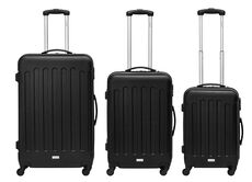Packenger Kofferset Koffer Travelstar 3er-Set, M/L&XL, Anthrazit, M/L/XL