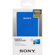 Sony Powerbank CP-E6BL, blau