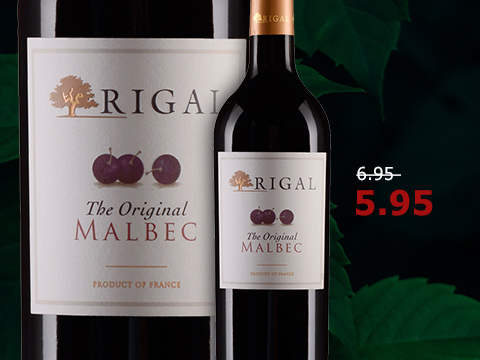 "Domaines Rigal, Malbec ""The Original"", Vin de Pays du Comte Tolosan"