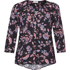 Myline Damen Bluse mit Alloverprint